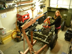 Yvonne Guiding Engine into Ford GPW
