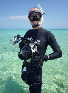 Michael in Heron Island