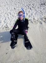 Yvonne on Heron Island
