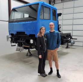 Yvonne and Michael with Refurbished LMTV