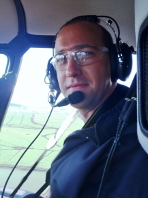 Michael Flying in a R44