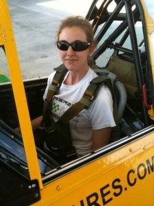 Yvonne Flying in a T-6