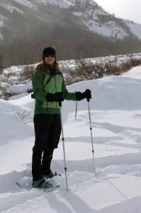 Yvonne Snowshoeing