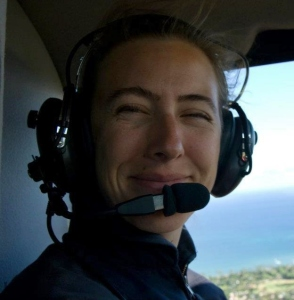Yvonne Flying in a Hughes 500