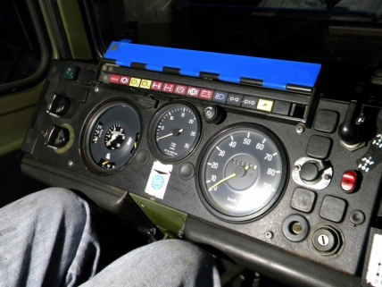 Reassembled Dash After Installing Repaired Pressure Gauge