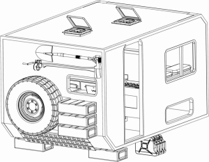 Started Laying Out Cargo Area on Back of U1300L