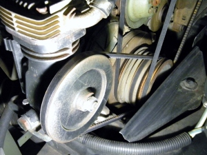 Tensioned Air Compressor Belt