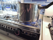 Cooked Pasta Dinner on Dometic Origo 3000 Stove