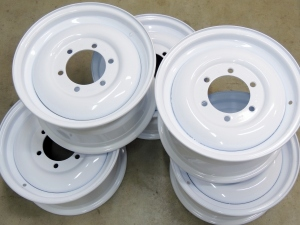 Picked Up Powder Coated Wheel Rims