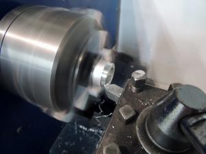 Machining Aluminum Spacer for Rear Pintal Shear Bolt