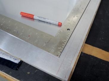 Marking Trim Line for Passthrough Door