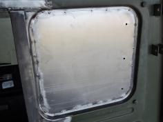 Tack Welded Window Fill Plate