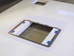 Bond Prep for Upper Aluminum Hatch Adapter Plate