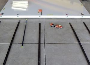 Just Prior to Bonding Steel Hardpoints