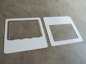 Primed and Painted Aluminum Roof Hatch Adapter Plates