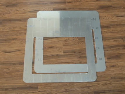 Received Waterjet Aluminum Adapter Plates for Roof Hatch