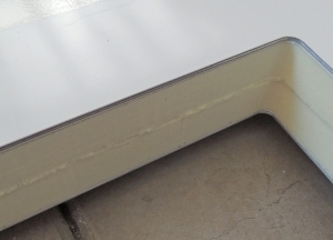 Routed Bottom Side of Hatch Opening and Removed Excess Composite Panel