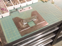 Completed Preliminary Welding of Spare Tire Mount Plate