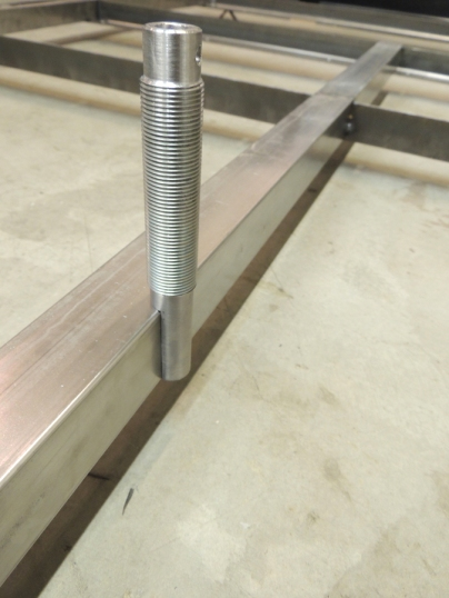Milled Mounting Flat on Upper Sand Ladder Mount Bolt
