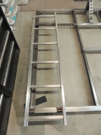 Tack Welded Tire Mount Ladder Brackets