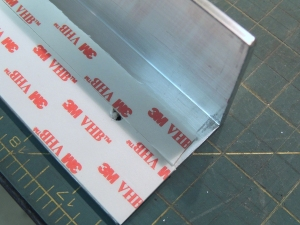 Attached Mounting Brackets to Solar Panels Using 3M VHB and Aluminum Pop Rivets