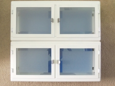 Frosted Cabinet Glass Using Window Film