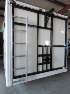 Installed Ladder and Hoist Side Strut on Rear Frame