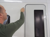 Removing Korapop 225 Squeeze-Out from Door Installation