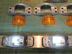 Replaced and Operationally Checked Forward Marker Light Bulbs with 24V LEDs