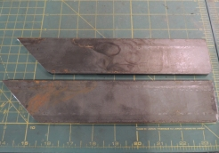 Cutting Steel for Ladder Mount Plates