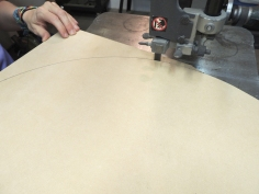 Fabricated roof hatch backing board and melamine insulation