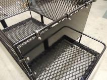Installed Bike Enclosure Aluminum Plate on Roof Rack