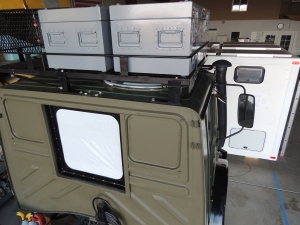 Installed Roof Rack Boxes