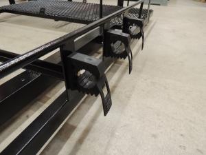 Installed Shovel Mounts on Front of Roof Rack