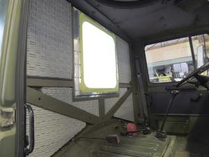 Bonded Melamine Foam to Rear Cab Wall