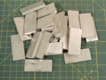 Fabricated Aluminum Roof Wire Hold Down Plates