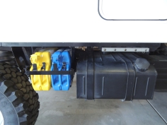 Installed Passenger Side Jerry Can Mount