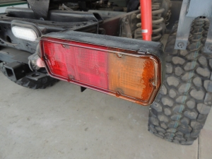Prepped and Coated Tail Lights with Spar Urethane