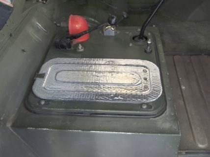 Applied Sound Deadening Mat to Cab Floor Cavity