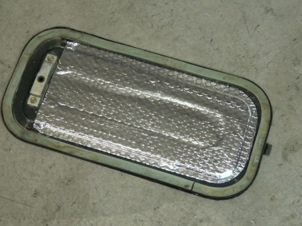 Applied Sound Deadening Mat to Cab Floor Cavity Cover