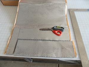 Applied Sound Deadening Mat to Sheet Metal Areas Behind Glove Box