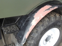 Body Worked, Prepped, Primed, and Painted Forward Passenger Fender