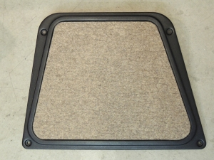 Bonded Felt to Engine Access Cover and Glove Box Door