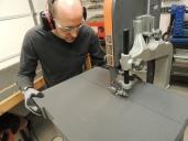 Bonded Foam Rubber for Passthrough Acoustic Plug