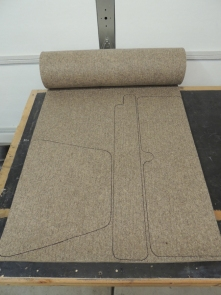 Cut and Trimmed Felt Insulation for Cab
