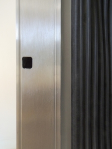 Cut Strike Plate Hole in Passthrough Door Frame