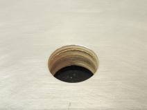 Drilled Passthrough Door Deadbolt Lock Hole