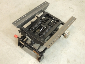 Fabricated Driver Side Seat Mount Using Components from New and Old Seats