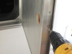 Installed Passthrough Door Lock