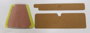 Made Templates for Wool Felt for Engine Access Door, Glove Box, and Top of Dash